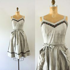 "223 Likes, 12 Comments - Croatia Vintage (@croatiavintage) on Instagram: ""NEW | 1950s Parisian Chateau sweetheart day dress #50sdress #vintageclothing #1950s"""