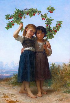 The Cherry Branch William-Adolphe Bouguereau