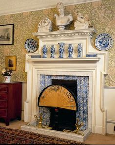 outdoor conversation sets with fire pit - explore our solutions! Victorian Tiles, Victorian Bedroom, Victorian Interiors, Victorian Decor, William Morris Wallpaper, Morris Wallpapers, English Interior, Antique Interior, Kind Of Blue