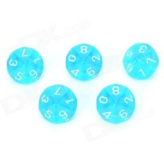 With 0~9 number on each side; suitable for board games such as Dungeons and Dragons. http://j.mp/1p10hva
