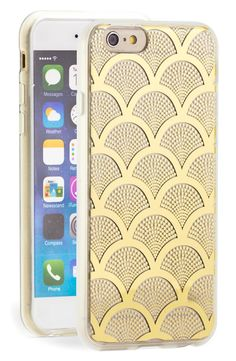 For the girl who loves gold: Scalloped gold lace iPhone case.