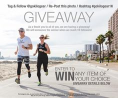 We are so excited to be finally launching at the end of the month we wanted to celebrate by hosting our first KILOGEAR GIVEAWAY! Since we love our product so much and want to share it with all of you we will be giving away any one item of your choice from our new line of weighted athletic apparel!  Here is how to enter: 1) FOLLOW @gokilogear  2) LIKE and REPOST this picture 3) HASHTAG #GoKilogear1K  We will announce the winner once we have reached 1000 followers!  GOOD LUCK! #gokilogear…