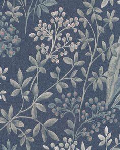 Tapet Nocturne 4 från Boråstapeter Art Nouveau Poster, Art Chinois, Art Japonais, Soothing Colors, Motif Floral, Blue Bedroom, Pretty Patterns, Nocturne, Color Pallets
