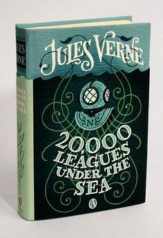 Fancy - Jules Verne 20,000 Leagues Under The Sea Book Cover by Jim Tierney