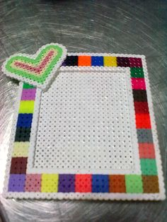Frame hama beads by Sonia Delcán Moreno