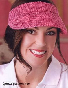 Crochet Sun Visor - free pattern from knitted-patterns.com