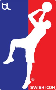 Swish Icon Brand Legendary Icon Blue and Red