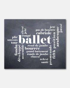 Dance Wall Art Ballet Typography Art by SusanNewberryDesigns