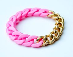 Neon pink chain