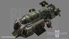 Starcraft 2: Colonist Ship by PhillGonzo.deviantart.com on @deviantART