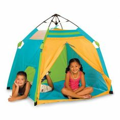 Your child will love to play with this Pacific Play Tents One Touch Beach Tent. www.rightstart.com