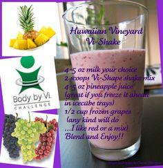 Hawaiian Vineyard Vi-Shake! Get your Vi-shape shake mix at http://www.RayvenMichelle.com/YUMMY