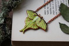 Luna Moth Necklace b