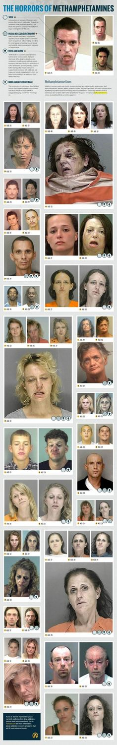 "Eight years ago, the Multnomah County Sheriff's Office launched a campaign called ""the Faces of Meth"" to address Oregon's methamphetamine problem. The images showed the jarring effects of meth on addicts' faces through before-and-after pictures from their arrest records.  Rehabs.com recently followed suit with this infographic. Warning: these images are disturbing"