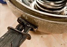 tip:  when making concrete projects, use something with a motor (i.e., blade-less reciprocating saw) to vibrate the mold to remove any air bubbles.