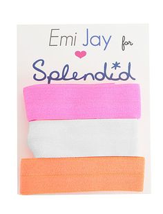 @Emi-Jay, Inc. for Splendid Hair Ties #splendideveryday