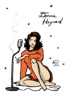 Donna Hayward Pin-up #2 Flash Art