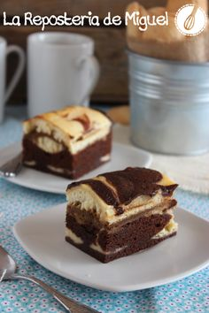 Tiramisú Brownie, all I can say is YUM! Cupcakes, Cake Cookies, Cupcake Cakes, Tiramisu Brownies, Cheesecake Brownies, Croissants, Sweet Recipes, Cake Recipes, Café Chocolate
