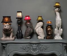 kitsch ceramic lamps!