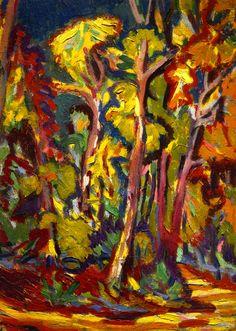 "ernstludwigkirchner: "" Bäumen im Herbst (1906) Norton Simon Museum, Pasadena """