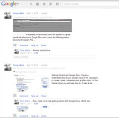 Teaching with Google+ Google+ Parts  Google+, as you likely know, is Google's own foray into social media.    As much the digital overlap of Google Search, Docs, Calendar, and Gmail software as it is a response to Facebook, Google+ has strong potential application in formal learning environments. First, a look at what makes Google+ tick