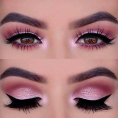 Pink Smokey Eye Look for Prom #beautymakeup