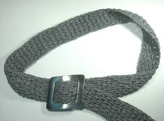 Woven crochet belt Gray Belt Raised by ShuvalAccessories on Etsy Crochet Belt, Hair Pins, Stitch, Trending Outfits, Grey, Lace, Unique Jewelry, Handmade Gifts, Accessories