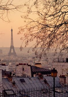 The Eiffel Tower from Montmartre, Paris, France