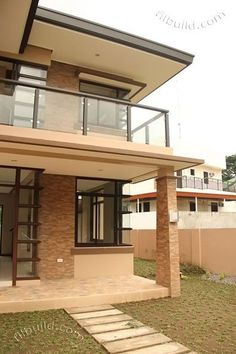 Real Estate Davao Two Naomi House Model Open Floor House Plans, Porch House Plans, Modern House Plans, Modern House Design, 3 Storey House Design, Two Story House Design, 2 Storey House, Davao, Modern Filipino House