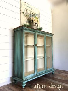 Vintage French Soul ~ Coastal hutch By uturn design Furniture Update, Refurbished Furniture, Paint Furniture, Repurposed Furniture, Shabby Chic Furniture, Furniture Projects, Furniture Making, Furniture Makeover, Vintage Furniture