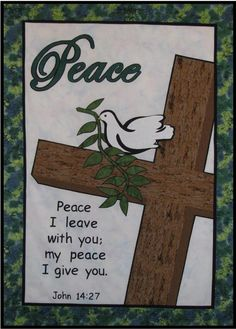 Easter Church Banner Patterns | Home › Christian Banner Patterns › Fruit of the Spirit: Peace