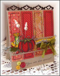 Pincushion Single love the sewing theme!