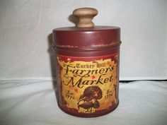 turkey tin, Great Thanksgiving decor