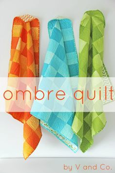 simply color ombre solids simple square quilts    V and Co., simply color, moda fabrics, modern quilts, ombre, vanessa christenson, how to, make, quilting