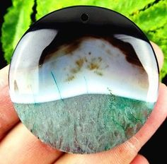 BROWN-amp-GREEN-GEODE-Sterling-Silver-Necklace-22-039-039-C56579-Agate-Geode-Druzy