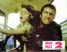 Mad Max 2 lobby card with Mel Gibson & Emil Minty