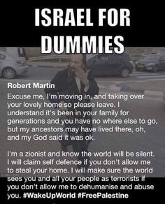 For (Christian)Zionists - this is for you. Remember, you can't be a Christian & a Zionist. One crucified the other.