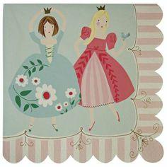 Meri Meri Pink I'm a Princess Napkin - Set of 40 by Meri Meri Im A Princess, Princess Birthday, Princess Cakes, Modern Princess, Princess Theme, Party Napkins, Napkins Set, Princess Party Supplies, Decoupage