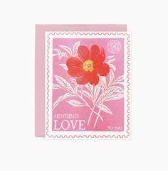 Valentine Day Gifts, Valentines, Flower Tattoo Back, Side Tattoos, Vintage Stamps, Etsy Uk, Freelance Illustrator, Your Cards, Stationery