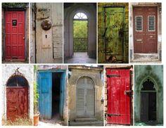 **FREE ViNTaGE DiGiTaL STaMPS**: Free Printable - Rustic Door Collage