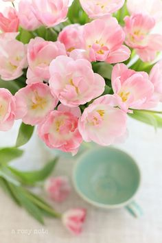 A Rosy Note: Pink Posies