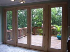 Renewal by Andersen of Central PA French patio doors. Who wouldn't love to be able to look out these doors and windows?