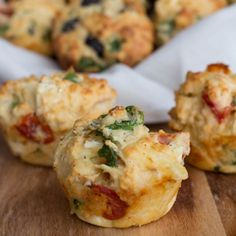 Savoury Muffins  (I would omit the olives)
