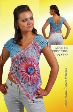 Entre um Fio e Outro: Blusa Crochê,  crochet shirt or top