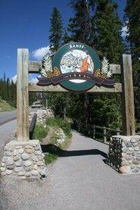 Banff National Park sign