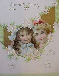 Adorable Victorian Valentine Card with Darling Children by Raphael Tuck & Sons