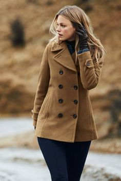 Women's+Wool+Peacoat+from+Lands'+End - I need to try on for size, color and style.  So basically, not necessarily this one, but I need a new nice coat.