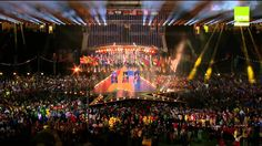 Jessica Mauboy - Sea Of Flags & Anything Is Possible at Commonwealth Games Closing Ceremony Glasgow 3Aug2014