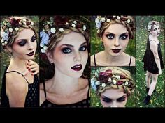 Goth Makeup for Halloween! Striking Vampire, Zombie or Dead Flapper - Jackie Wyers - YouTube