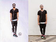 Fashion illustration: Руслан Егиянц-  fashion stylist.